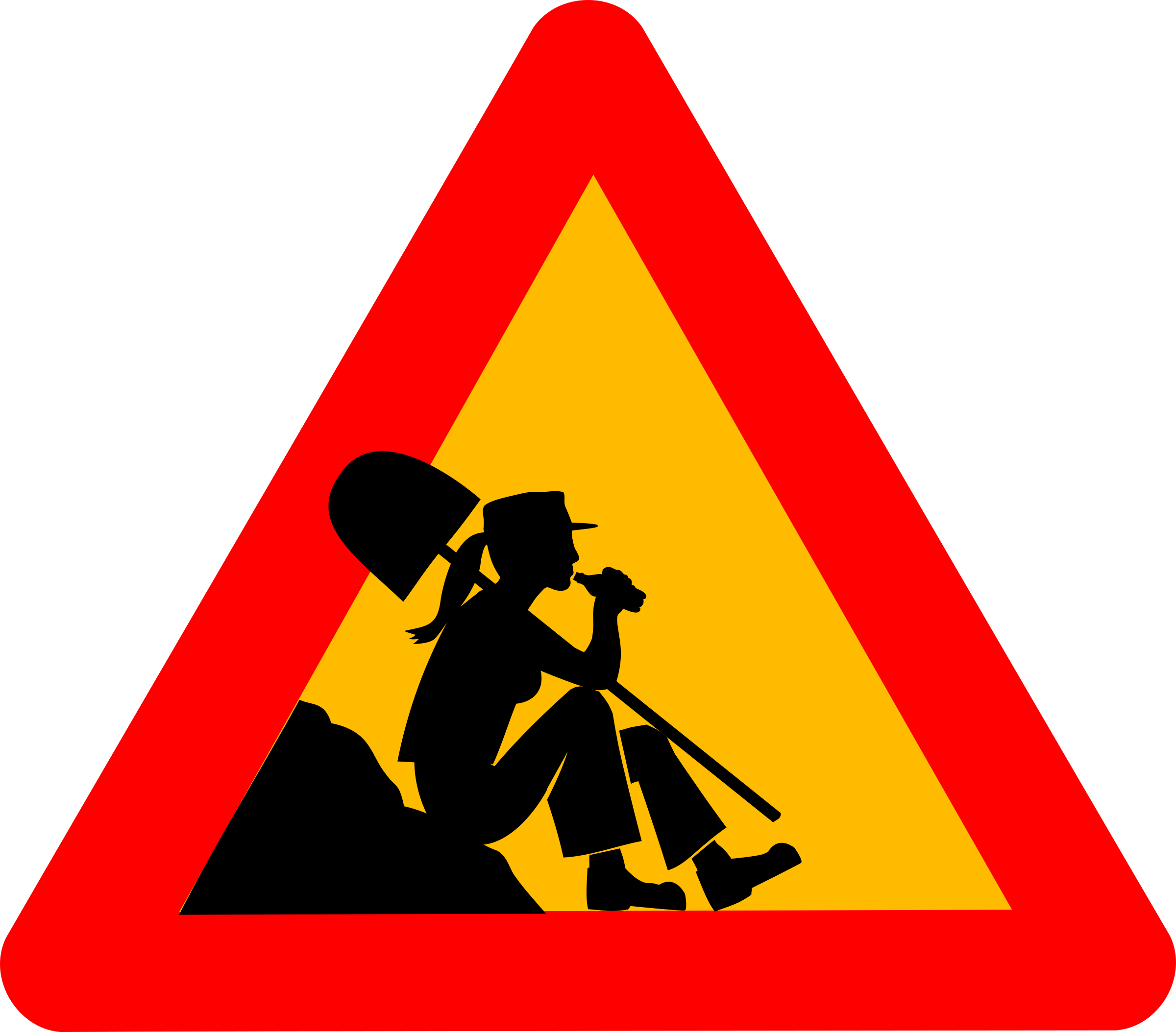 Working clipart icon. Woman at work big