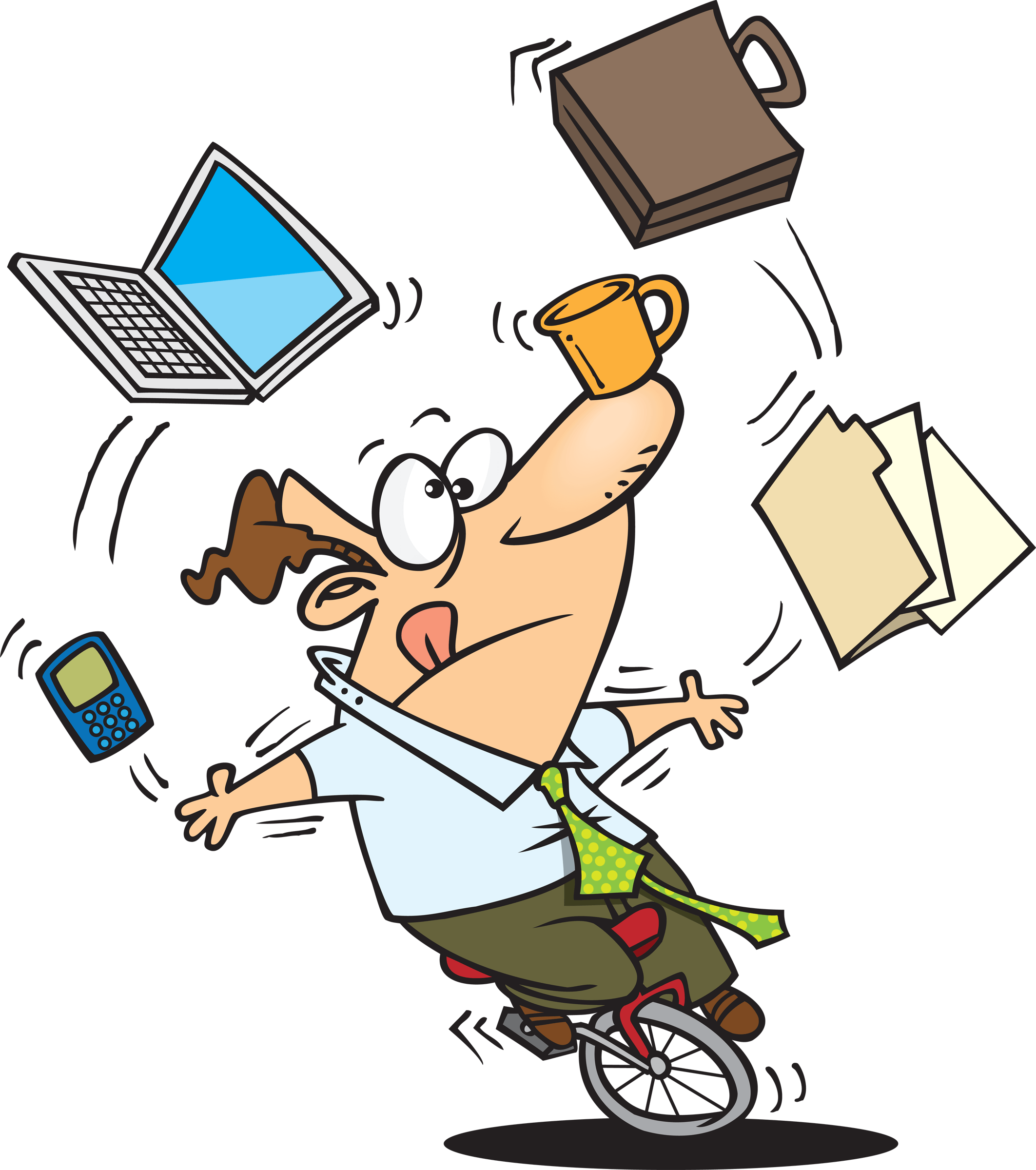 Working clipart juggler. Guy juggling many office