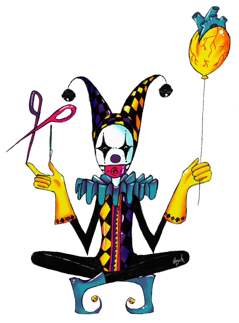 Masked circus the by. Working clipart juggler