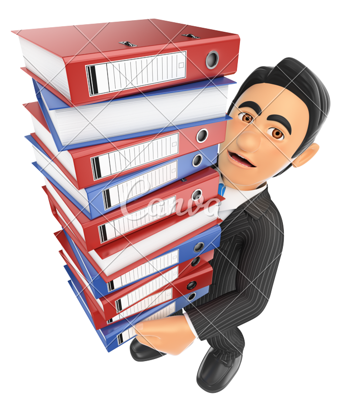 d businessman with. Working clipart lot work