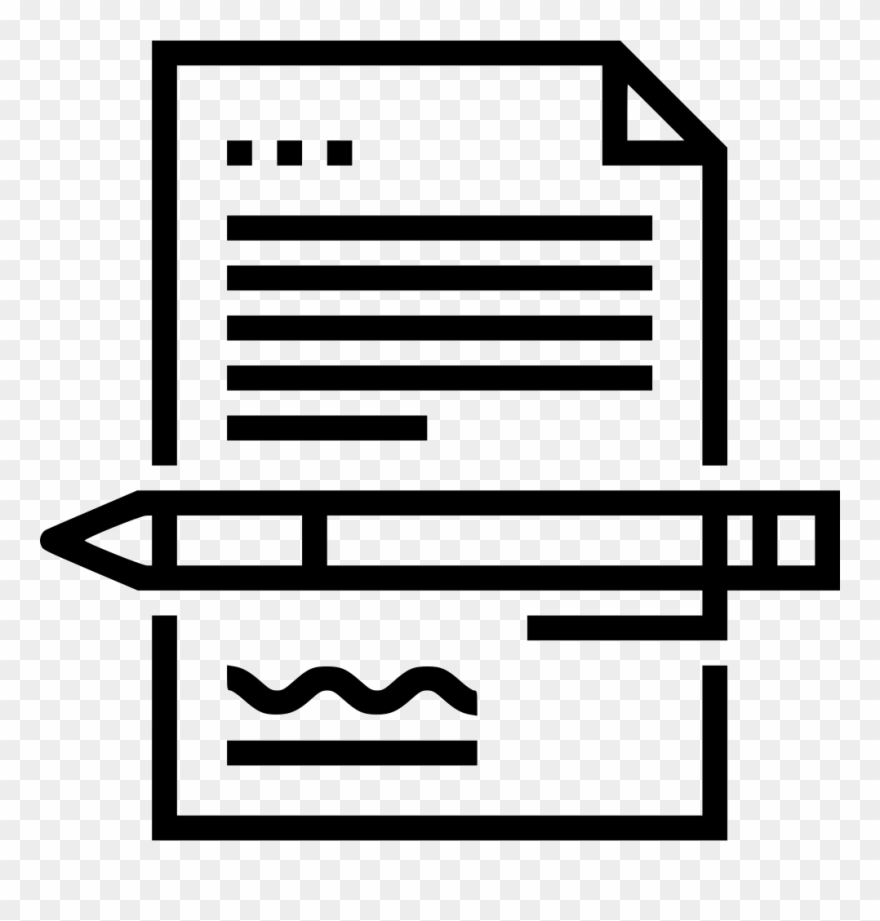 Working clipart quality work. Signing contract comments icon