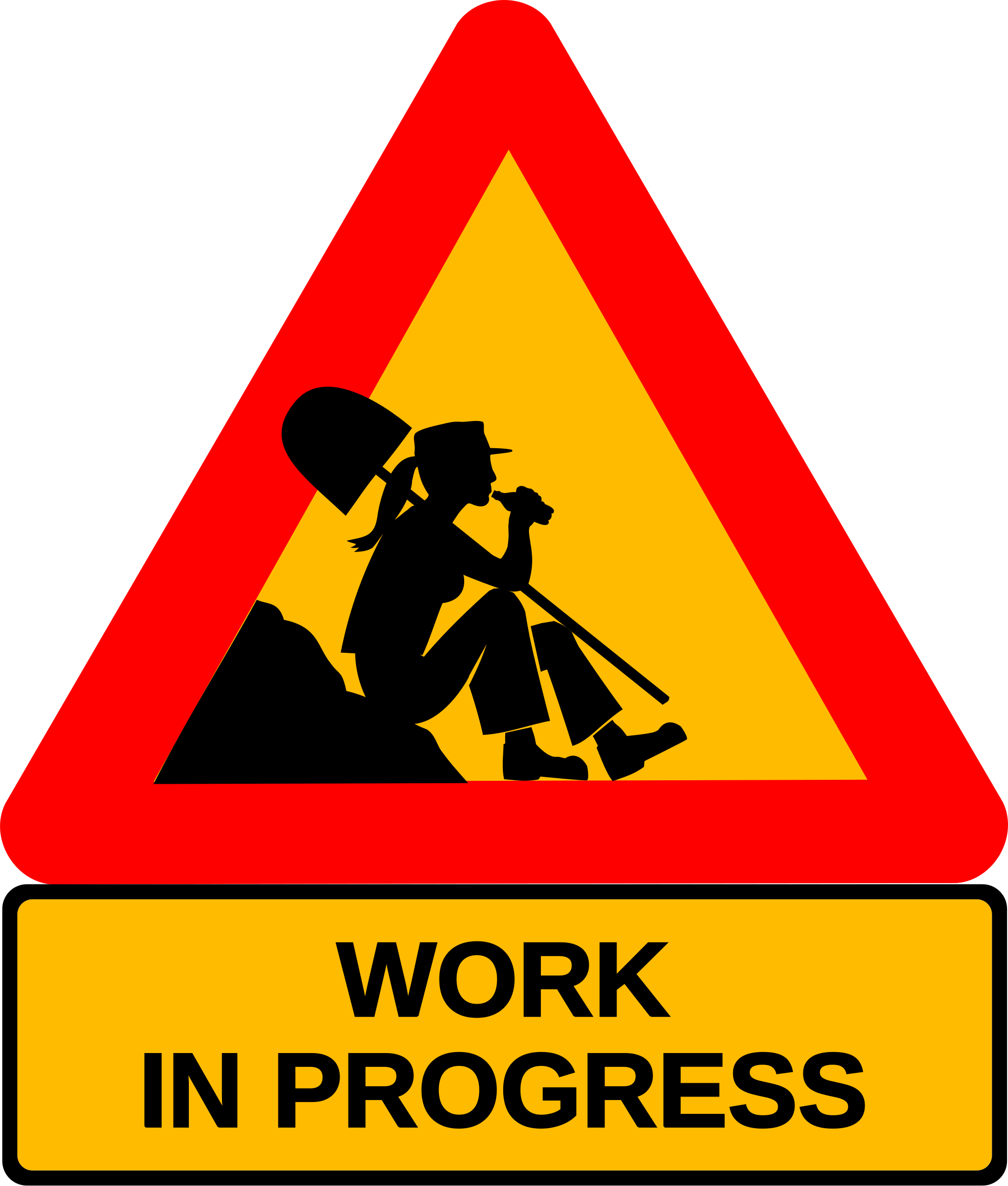 In progress big image. Working clipart road work