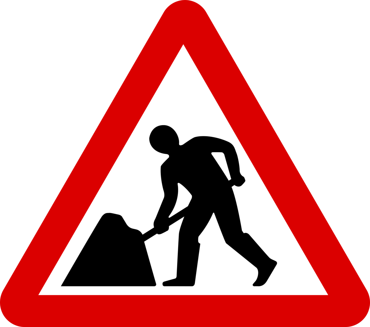 City commences with roadworks. Working clipart road work