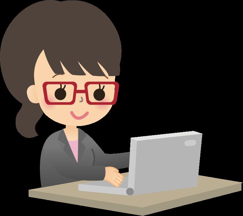 Working clipart secretary. Female computer user medium