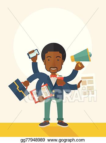 Working clipart simultaneously. Eps vector young but