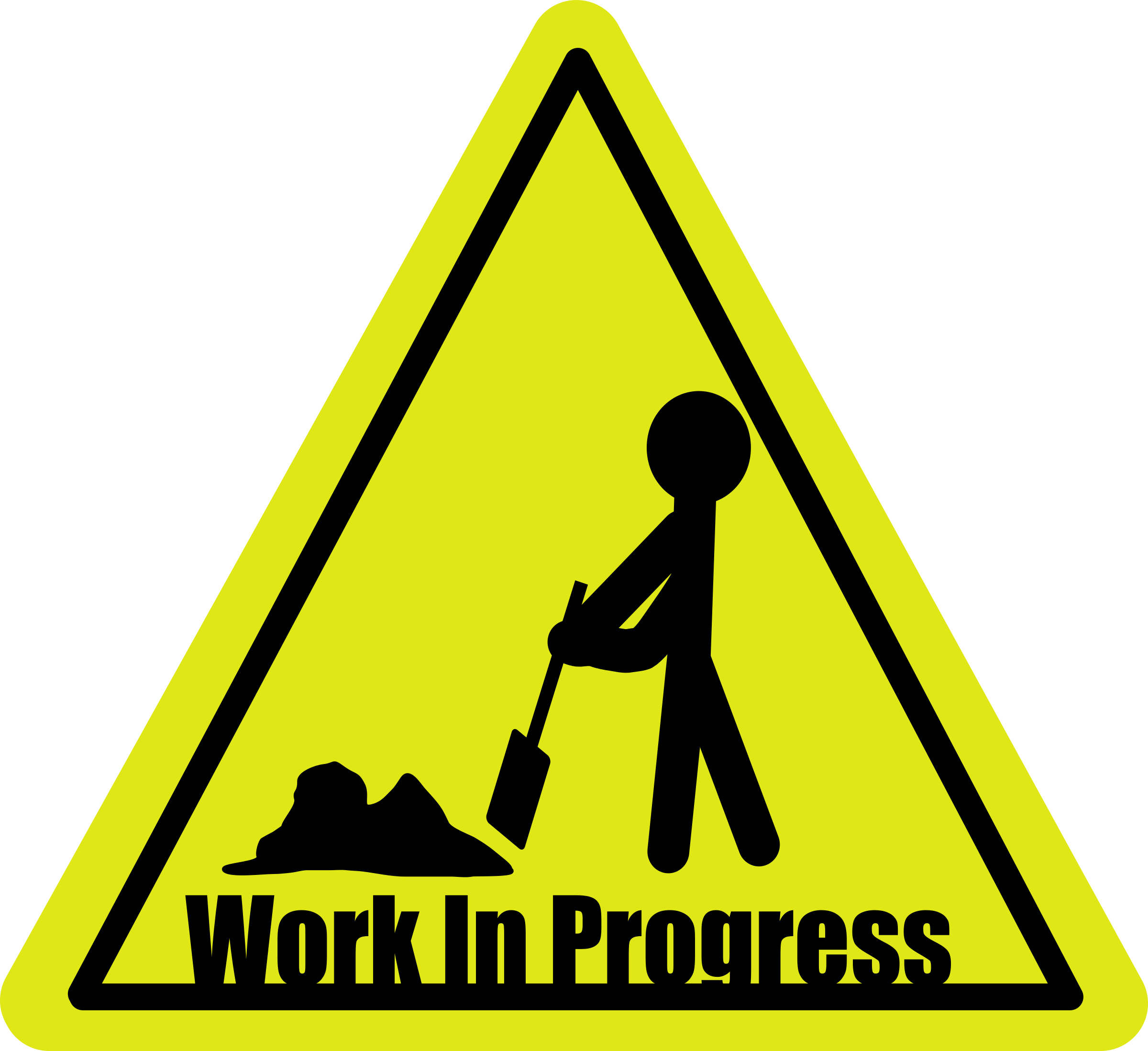 Working clipart symbol. Work in progress big
