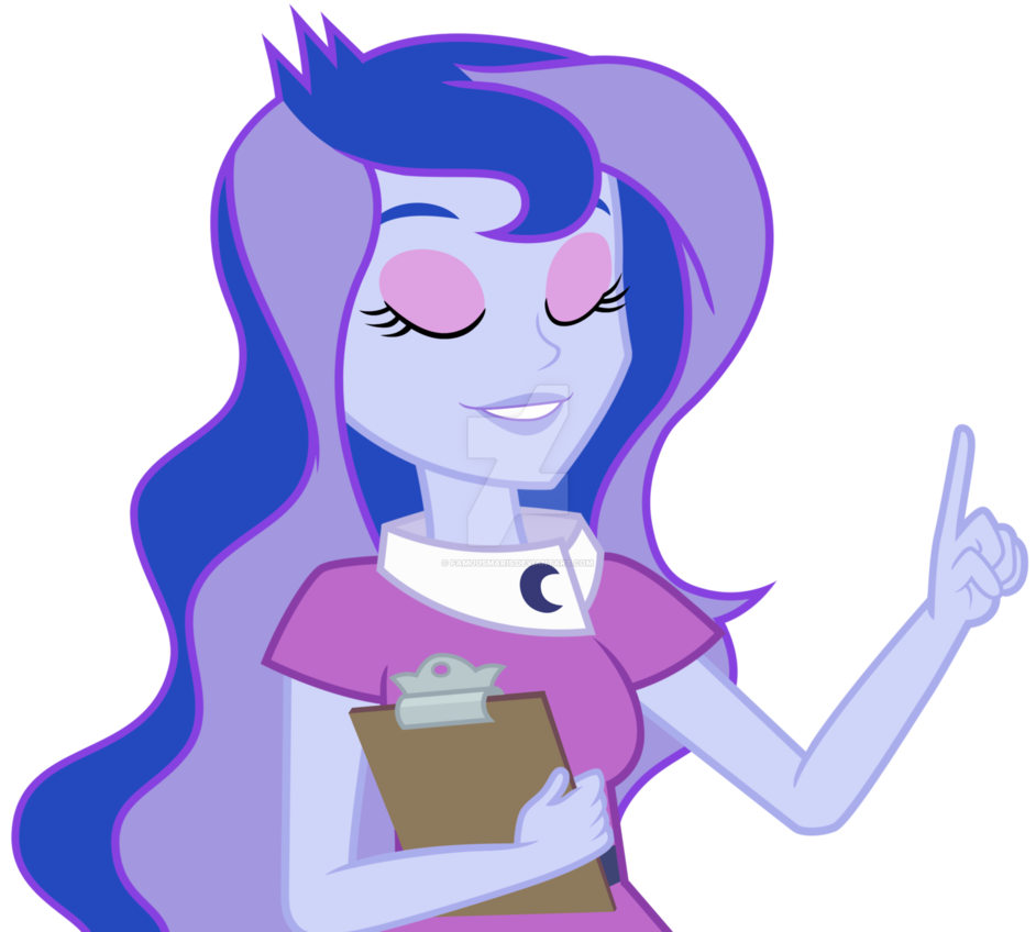 Mlp eqg luna by. Working clipart vice principal