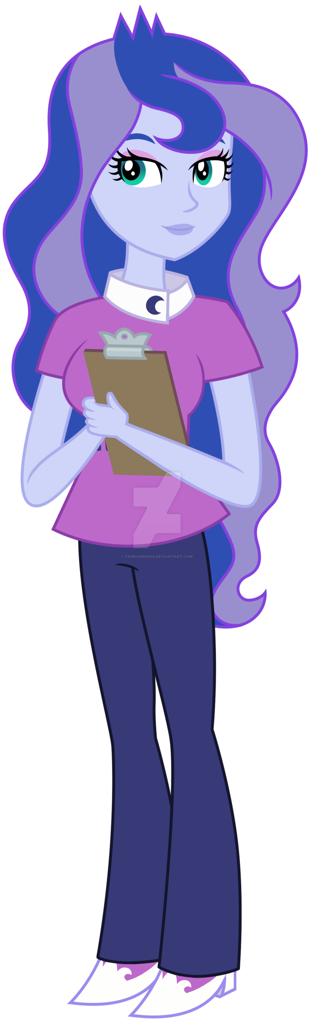 Luna by famousmari on. Working clipart vice principal