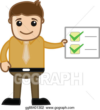 Working clipart work done. Vector stock all checklist