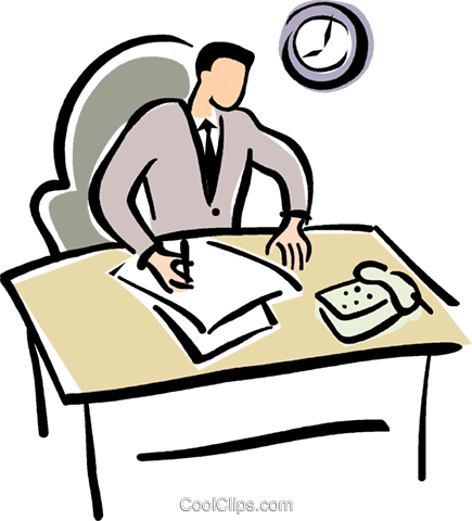 Working clipart workplace. Office work free download
