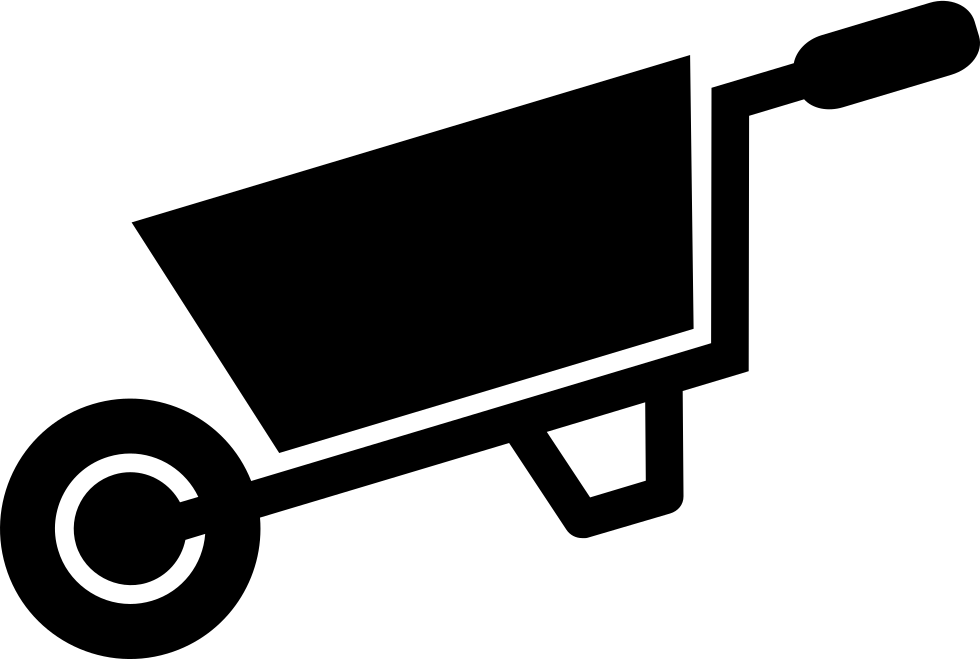 Wheelbarrow for svg png. Working clipart yard tool