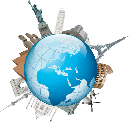 World clipart. Travel the arts image