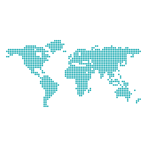 Pixel dotted transparent svg. World map vector png