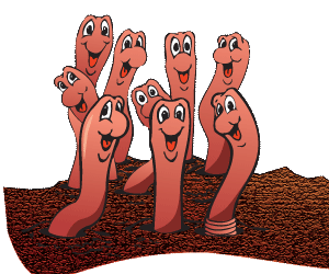 Dirt and . Worm clipart