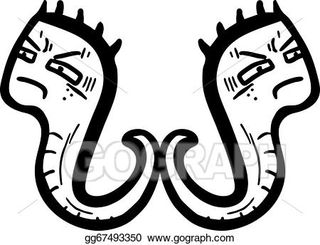 Worm clipart angry. Vector art eps gg