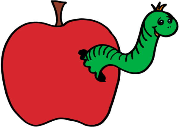 Clip art and . Worm clipart apple