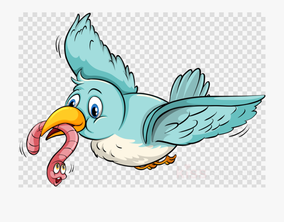 Eating cartoon transparent . Worm clipart bird