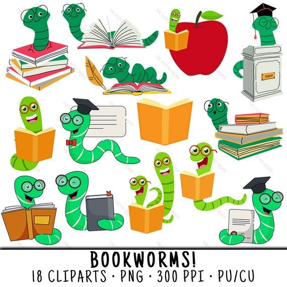 School clip art book. Worm clipart bookworm