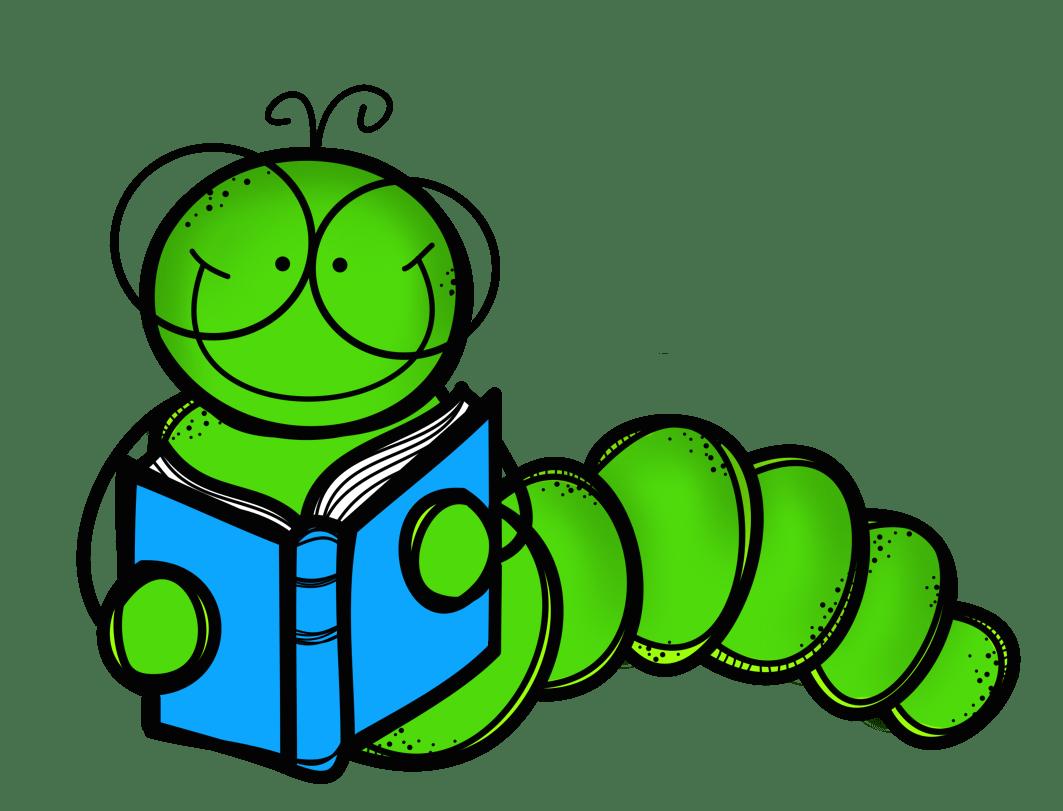 Cartoon . Worm clipart bookworm