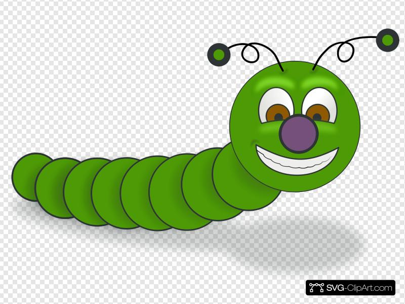 Worm clipart carton. Clip art icon and