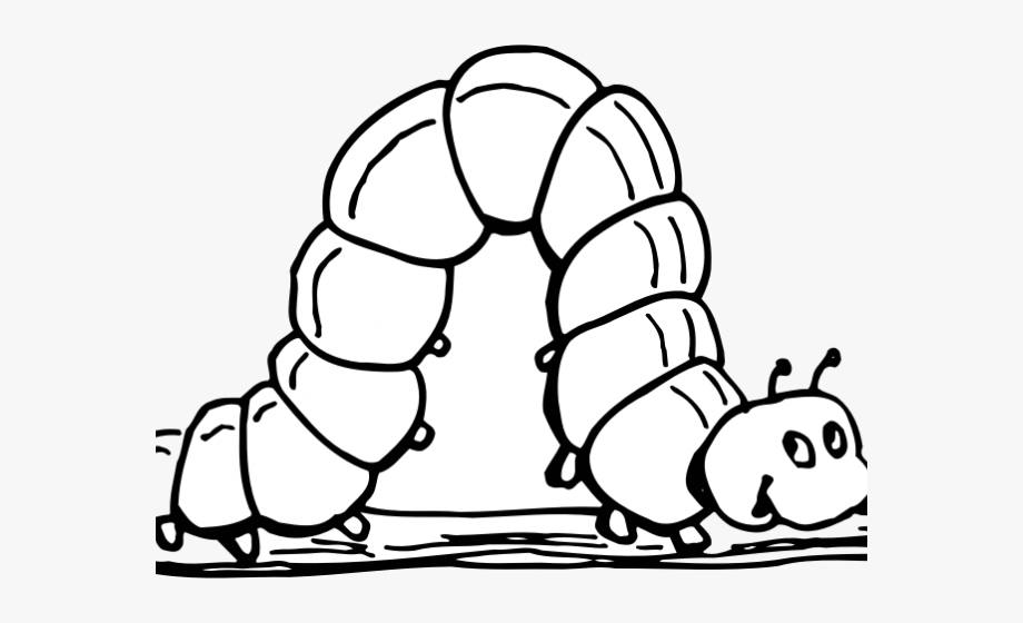 Inch cliparts inchworm black. Worm clipart catapiller