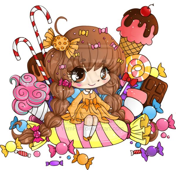 Candy box chibi commission. Youtube clipart kawaii