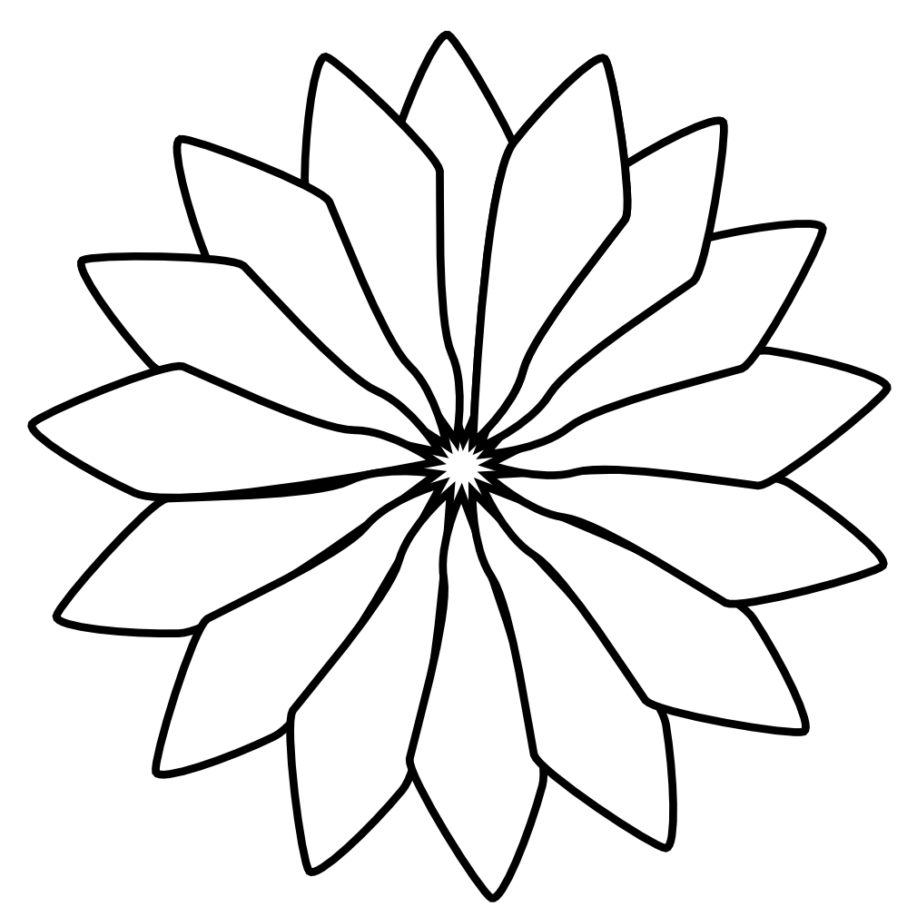 Worm clipart colouring page. Black white line flower