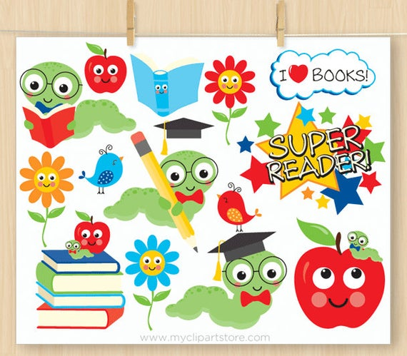 Little book back to. Worm clipart conjunction