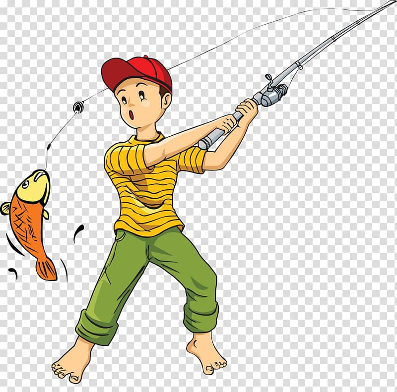 Rod cartoon catch fish. Worm clipart fishing equipment
