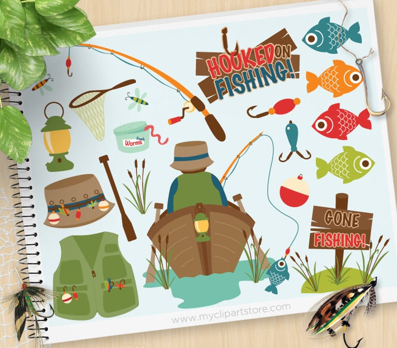 Father s day tackle. Worm clipart fishing gear
