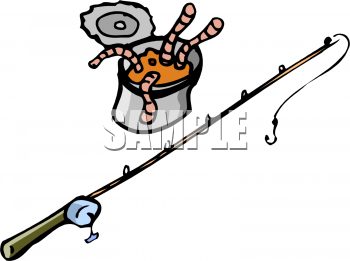 Worm clipart fishing gear. Picture of a can
