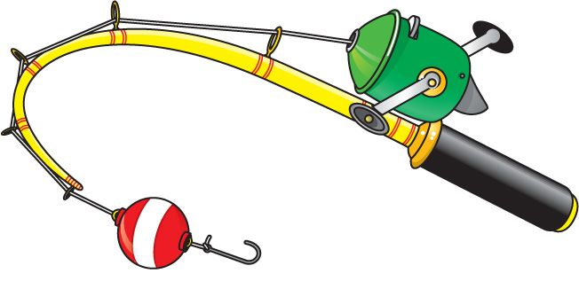 Worm clipart fishing gear. Rod fish lures quilt