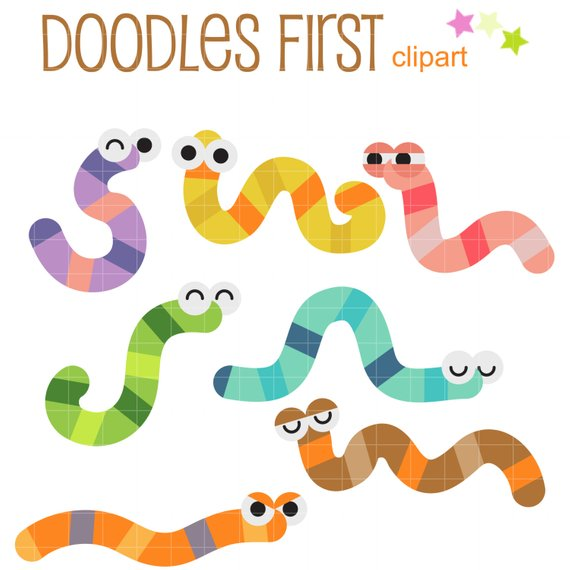 Worm clipart garden. Cute worms clip art