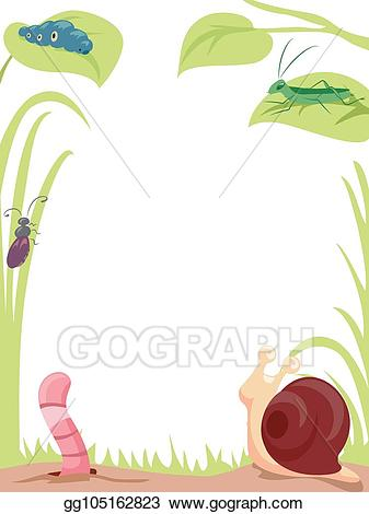 Worm clipart garden. Vector art insects background