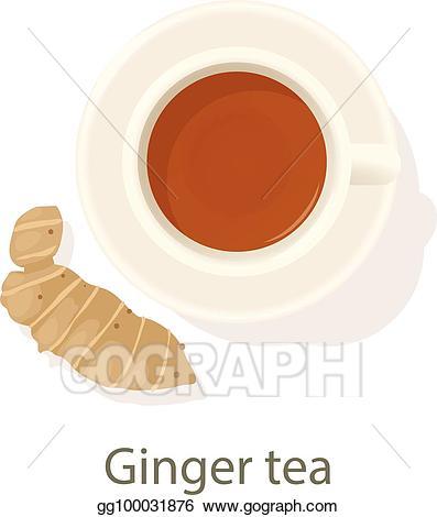 Worm clipart ginger. Eps illustration tea icon