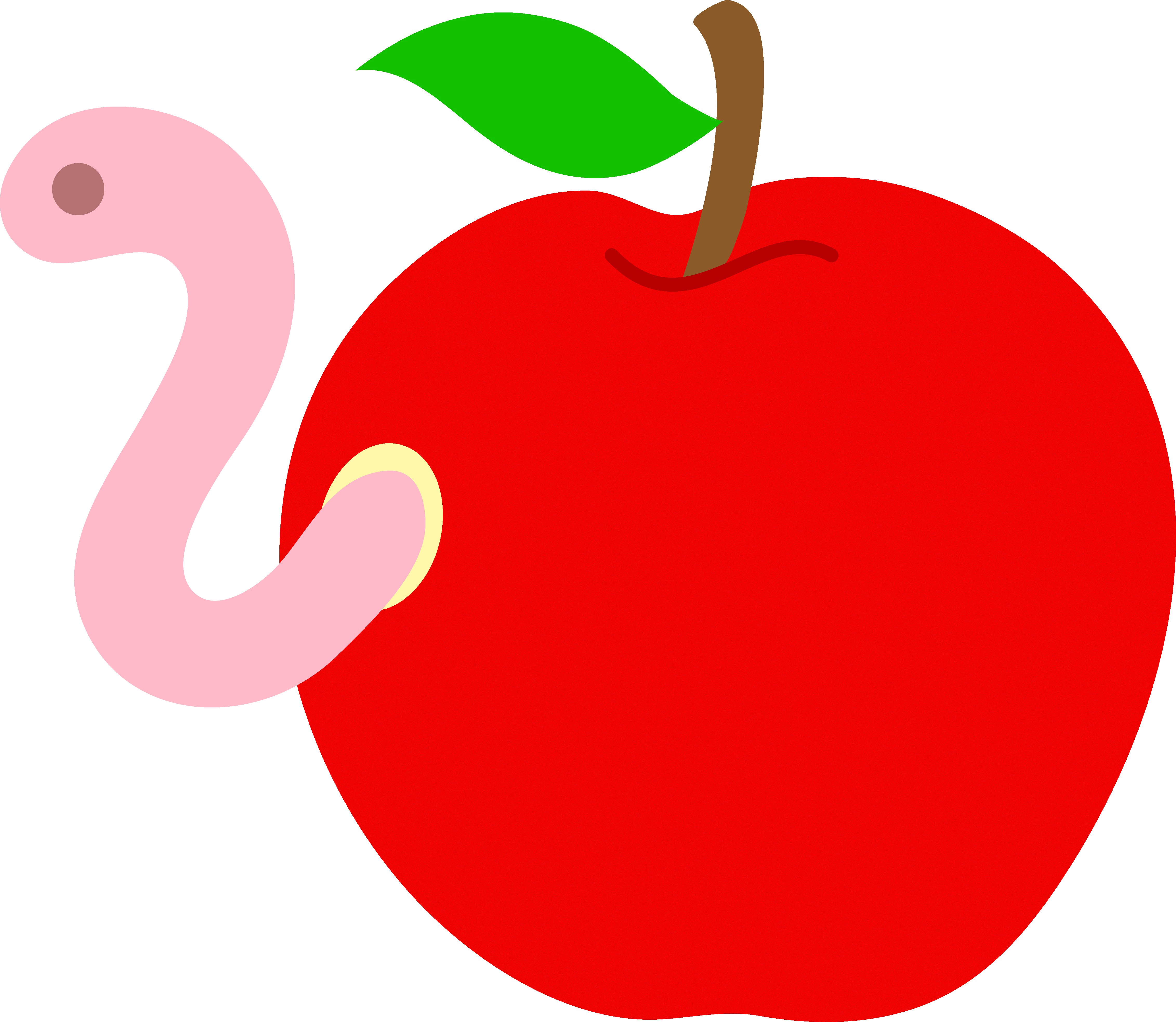 Heart cliparts zone apple. Worm clipart green thing