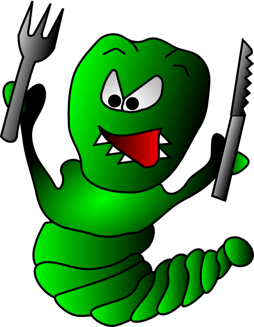 Worm clipart gusano. Caterpillar i royalty free