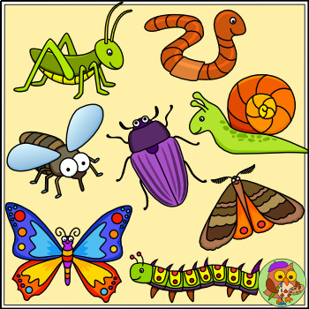 Worm clipart minibeast. Bug insect and color