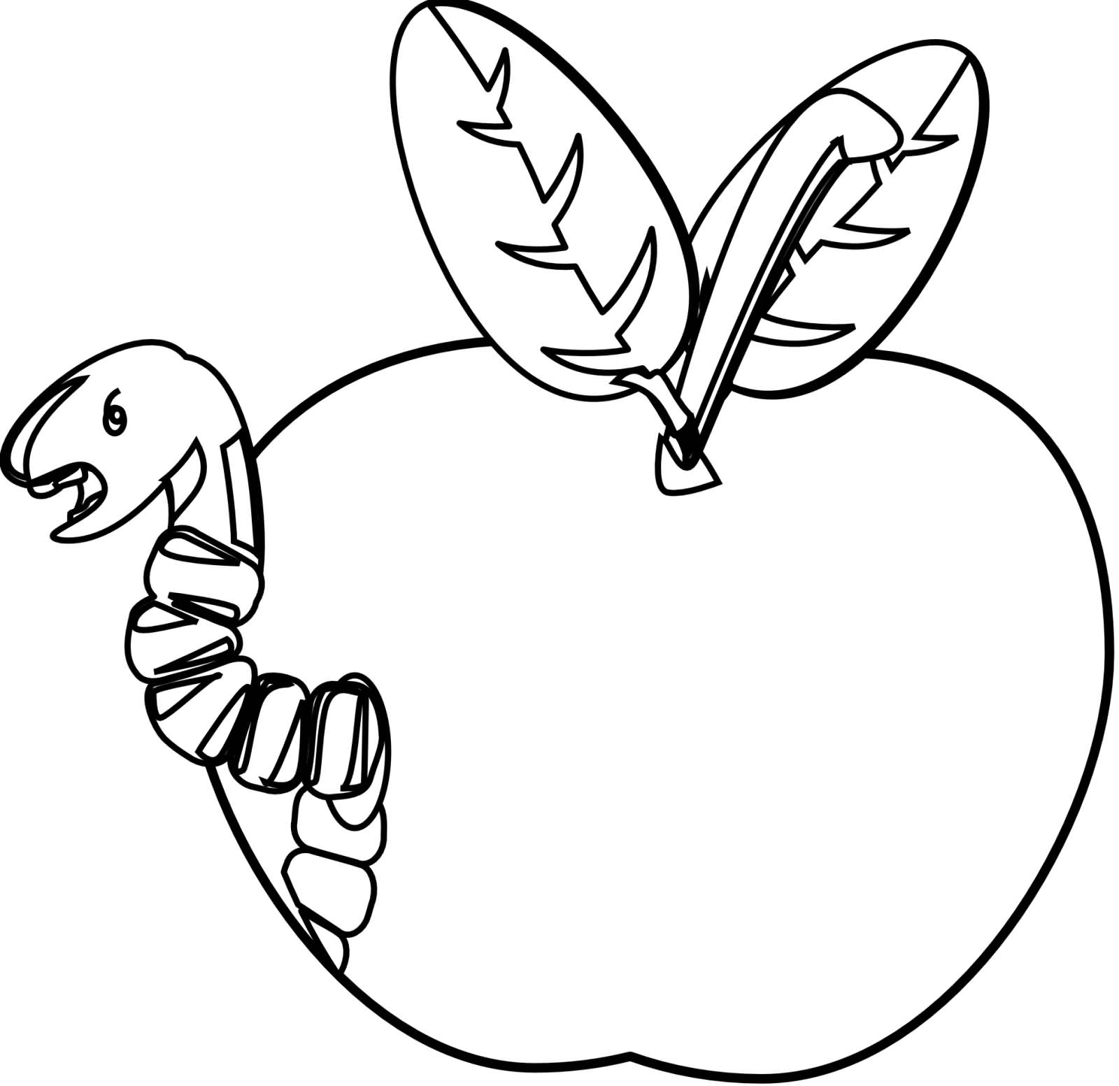 Worm clipart one. Black and white free