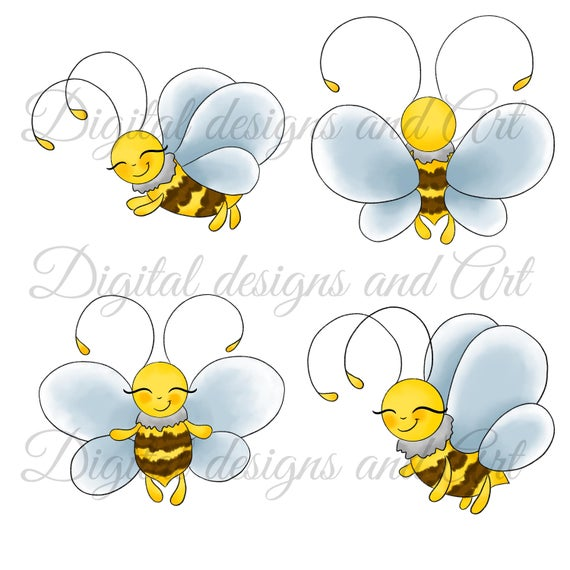 Bees illustration cute baby. Worm clipart purple bee