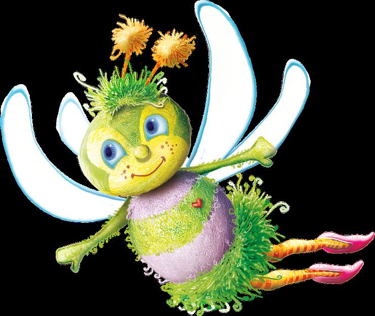 Borboletas joaninhas e etc. Worm clipart purple bee