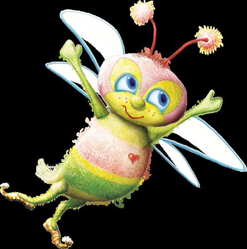 f aef b. Worm clipart purple bee