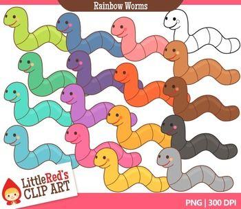 Worms clip art j. Worm clipart rainbow