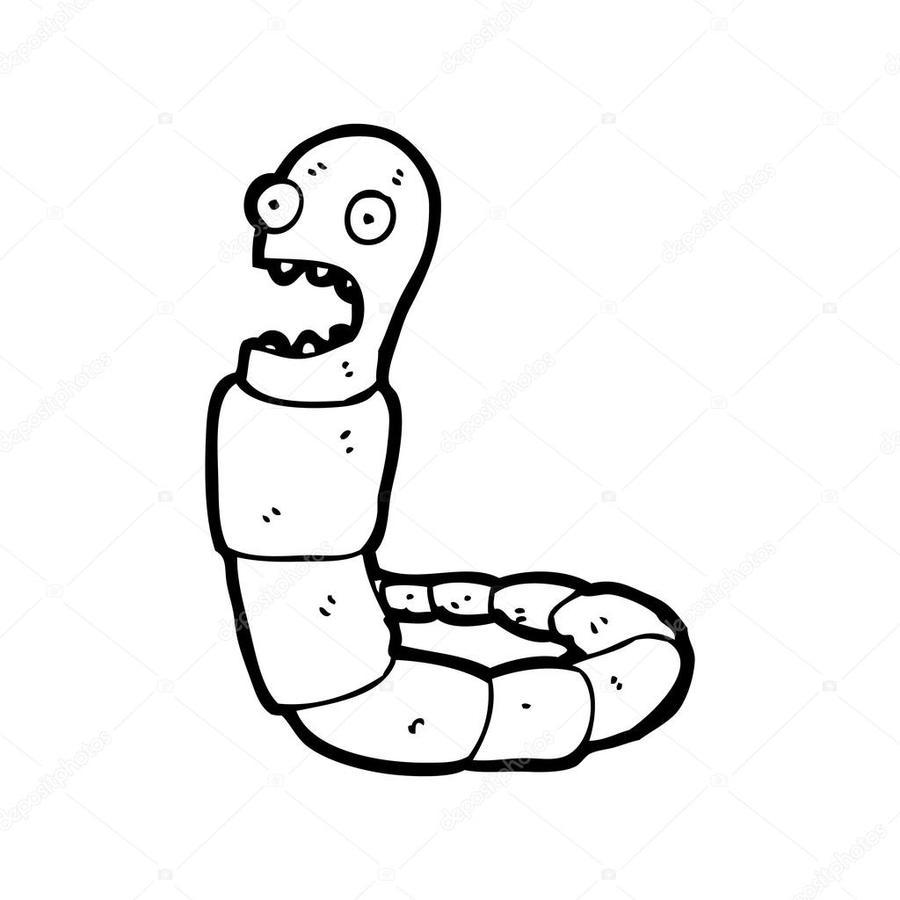 Download cartoon free . Worm clipart scared