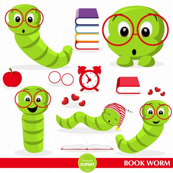 Worm clipart school. Book back to clip