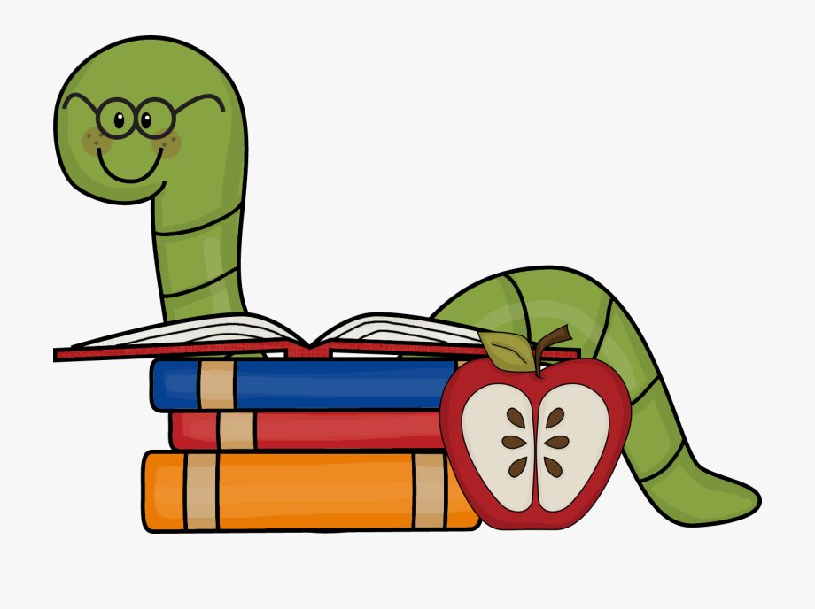 Background supply book . Worm clipart school