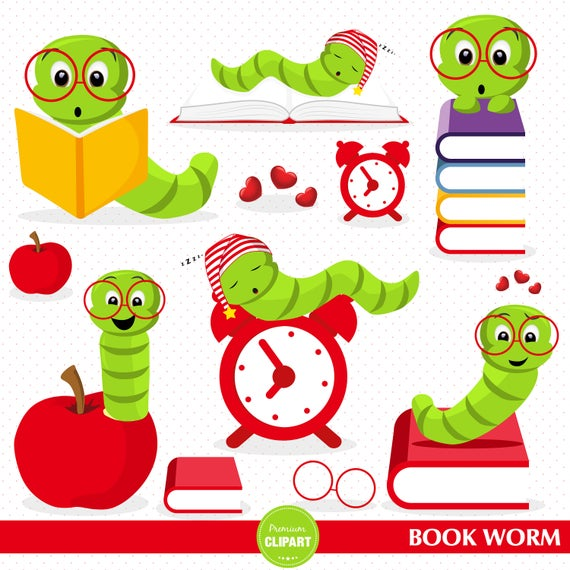 Book back to clip. Worm clipart school
