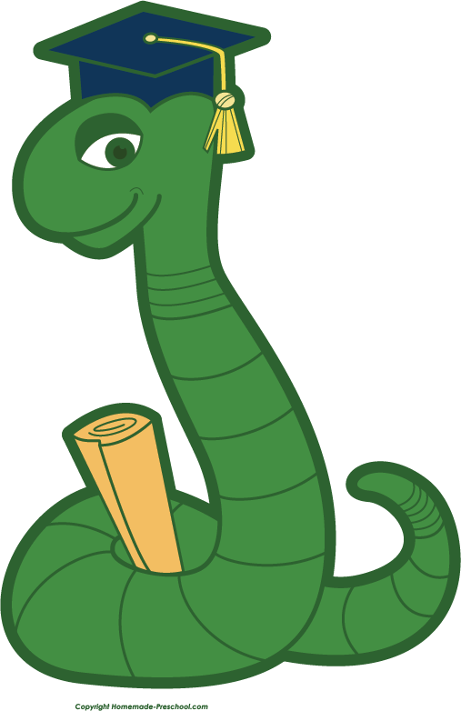 Free school related . Worm clipart smart