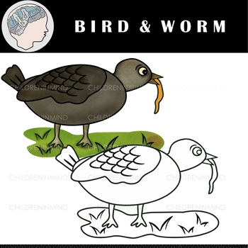 Worm clipart spring. Birds worms color nature