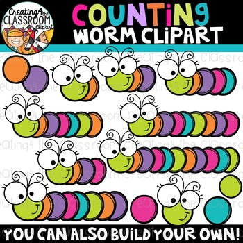 Counting build a . Worm clipart spring